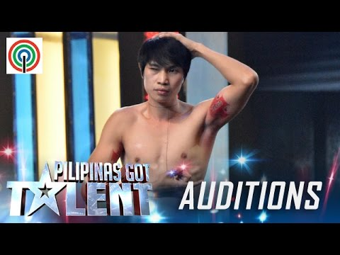 Pilipinas Got Talent Season 5 Auditions: Lito Tamayo - Muscle Flex Performer