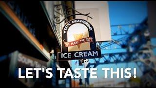 Mystic Drawbridge Ice Cream - Let's Taste This #icecream Caramel Apple & Pumpkin Pie