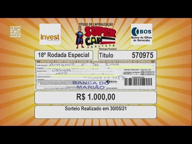 Sorteio Supercap Paulista - 30 de Maio de 2021