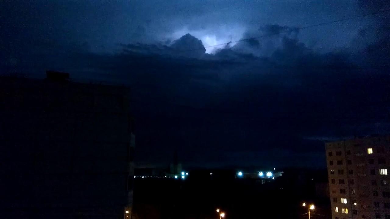 Молния Новосибирск (05.08.2017) зарница