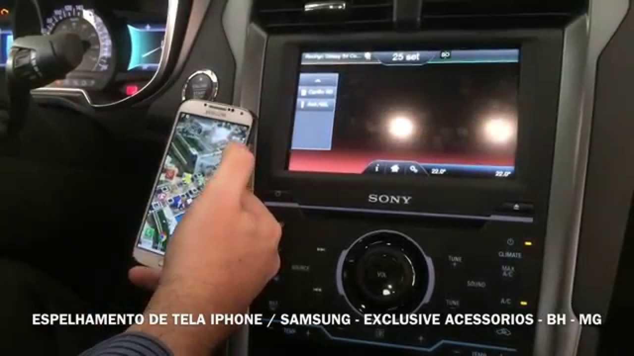 Espelhamento De Tela Do Smartphone Ford Fusion 2014 Exclusive