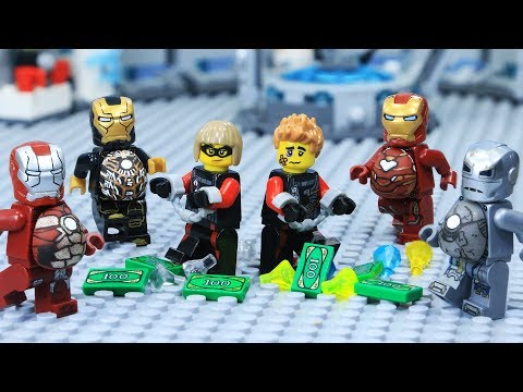Lego FAT IRON MAN's ARMOR SAVES a Bank Robbery