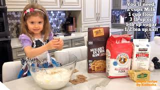 Easy Crepes Recipe from 3 years old Katiusha - Russian Blini