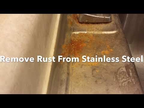 How To Remove Rust From A Stainless Steel Sink, Clean, Polish And Restore, Bar Keepers Friend.