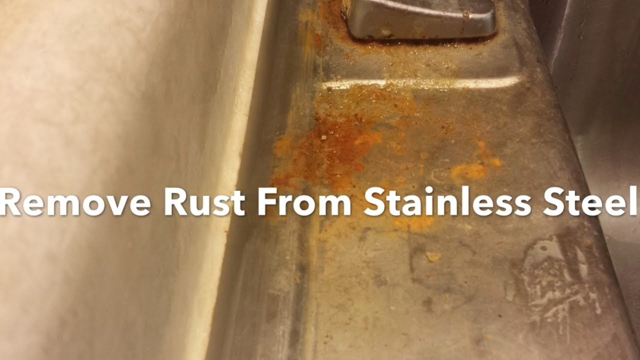 how to remove rust from a stainless steel sink clean polish and restore bar keepers friend