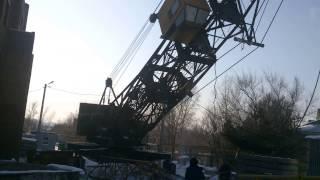 Подъем башенного крана кб 403(хабаровск., 2014-02-11T09:52:27.000Z)