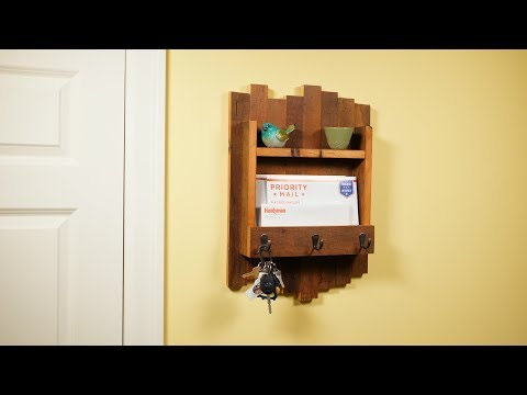 Build a Reclaimed Wood Key Hanger - Saturday Morning Workshop