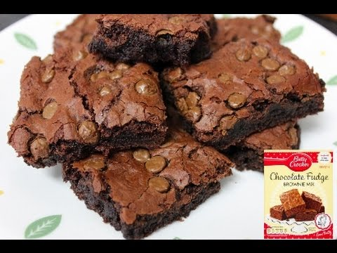 How to make betty crocker chocolate cake mix into brownies