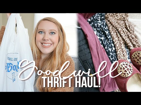 Goodwill thrift haul! Clothing & Accessories!