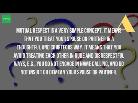 The meaning of respect in a relationship