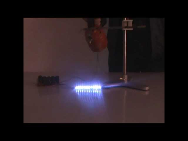 Heated glass - electric conductor - physics experiment