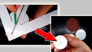 Как найти центр круга - линейка инструмент для определения центра круга без циркуля