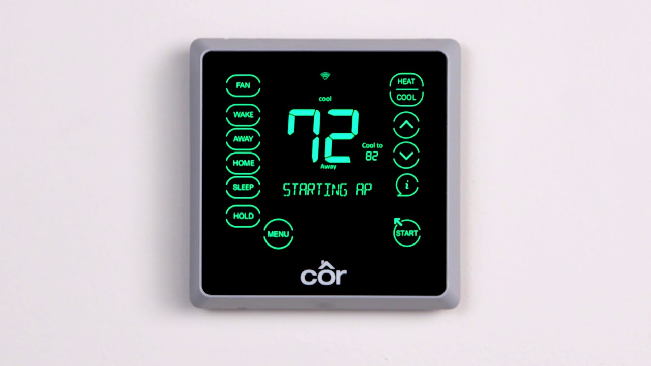 cor wifi thermostat wiring diagram cor 5c   7c equipment setup from smart phone youtube  cor 5c   7c equipment setup from smart