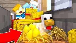ZŁOTE JAJKA OD KURY  | Minecraft Farma #4