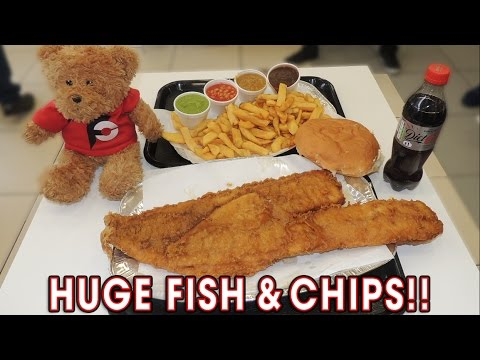 HUGE FISH AND CHIPS CHALLENGE IN WALES!!