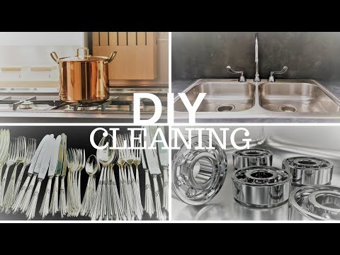 HOW TO CLEAN SURFACES - METALS! Cast Iron, Steel, Chrome, Copper, Brass, Silver