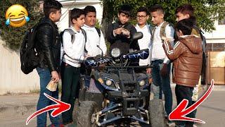 حيدر ورط مودي ميروح للمدرسة بسبب الدراجة الرباعية #تحشيش2020
