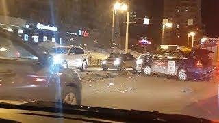 Массовое ДТП в центре Тюмени