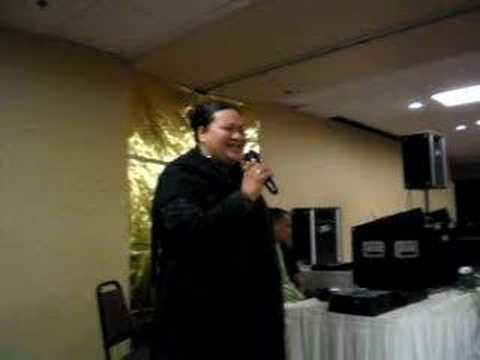 talini singing @ Radio Tonga Ball