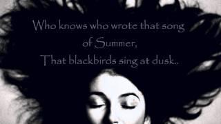 Kate Bush - Sunset (lyrics on screen)
