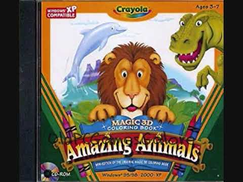 Crayola Magic 3D Coloring Book Amazing Animals - Sound Effects - YouTube