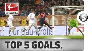 Top 5 Goals - Robben, Pizarro and More with Incredible Strikes