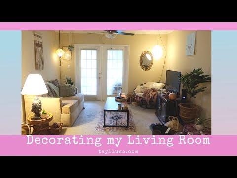 Organizing & Decorating my Living Room w/ Thrifted Decor
