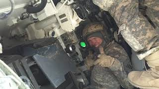 Abrams Tank inside view-Live Fire