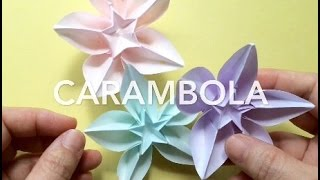 折り紙 スターフルーツ.   Origami Carambola.    Star Fruit