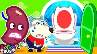 Пойдём в туалет, Wolfoo! 🚽 - Малыш Приучается к Горшку #2 | Wolfoo Russian | видео для детей