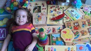 Игры с малышом дома. Развитие мелкой моторики/ Обзор деревянных игрушек