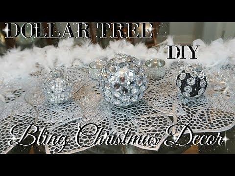 DIY DOLLAR TREE BLING CHRISTMAS ORNAMENTS | DIY DOLLAR TREE DECOR | DIY HOME DECOR CRAFTS