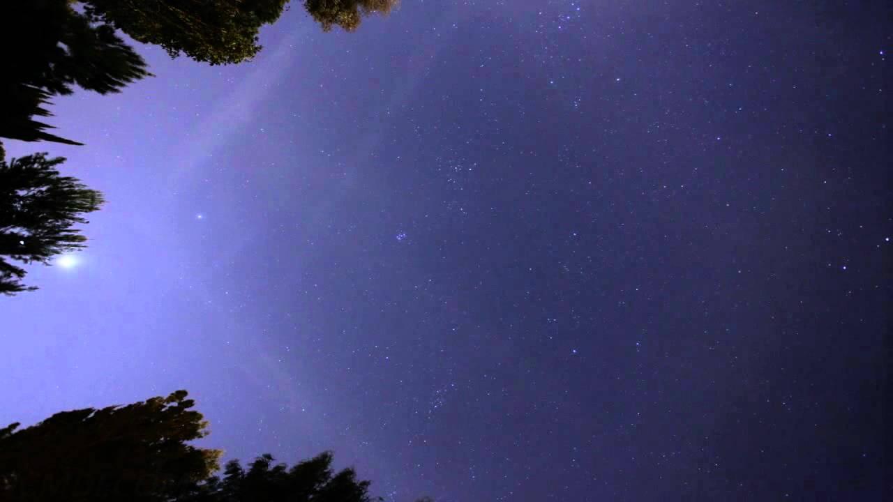 Conjunction of Moon Venus Jupiter timelapse (Overhead View) V10878g