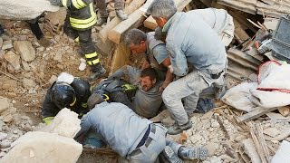 Miracle after miracle! Rescuers pulling survivors from rubble of Italian quake HD