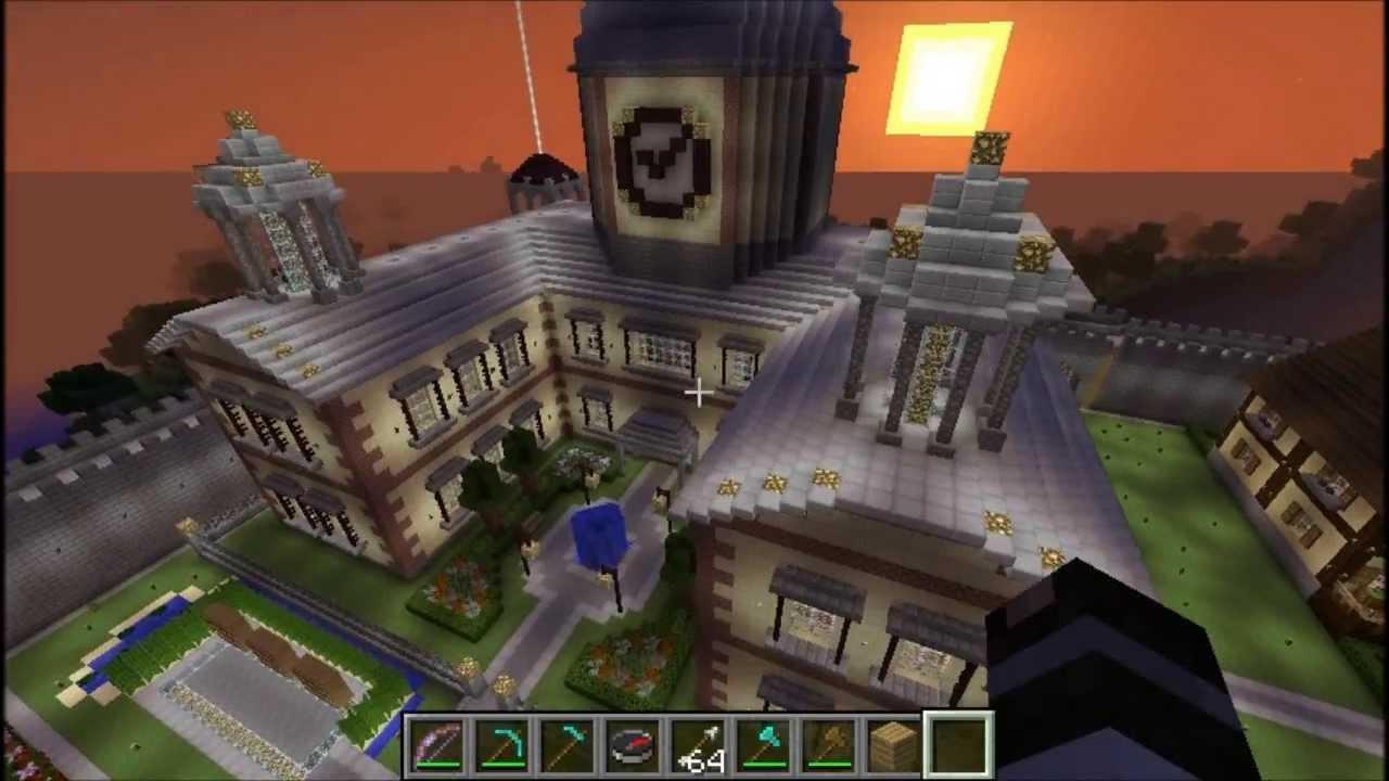 minecraft construction mairie h tel de ville youtube. Black Bedroom Furniture Sets. Home Design Ideas