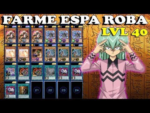 FARMANDO ESPA ROBA LVL 40 - Yu-Gi-Oh! DUEL LINKS