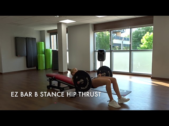 EZ Bar B Stance Hip Thrust