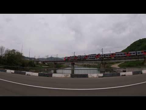 Скорый поезд 804С Им. курорт — Краснодар проходит туапсинский мост
