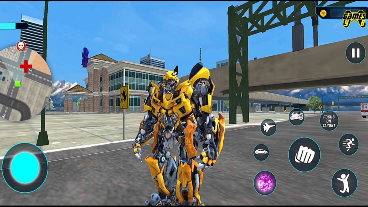 Bumblebee Multiple Transformation Jet Robot Car Game 2020 - Android Gameplay FHD