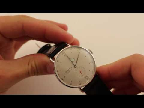 NOMOS Glashutte Metro Datum Gang Reserve 1101 Luxury Watch Review