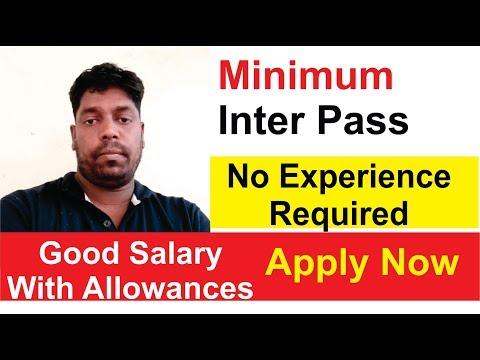 Jobs In Hyderabad 2019 Hindi    Good Salary     Inter Pass    12th Pass Job