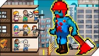 ОГРОМНЫЙ ЗОМБИ. НОВЫЕ БОЙЦЫ - Игра 100 DAYS # 4  Zombie Survival. Игры для телефона