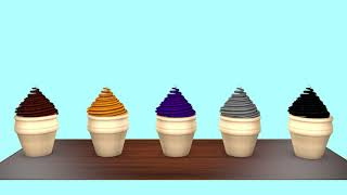 Learn Colors with Ice Cream Scoops|Cartoon video for kids|Toys Ice Cream Cups and Surprise Egg