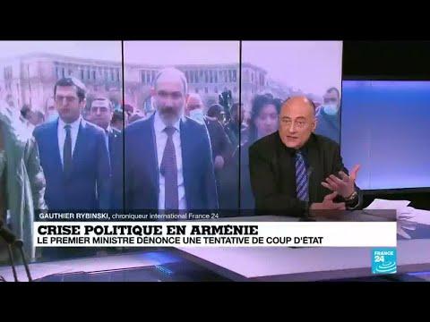 """Crise politique en Arménie : l'opposition appelle Pachinian à éviter """"la guerre civile"""""""