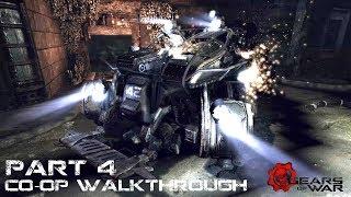 """Gears of War Co-op Прохождение Часть 4 """"Смертоносные птицы"""""""