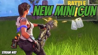 New MiniGun // 191 Wins // lvl 99 // 300 Subs Grind | Fortnite Battle Royale - LETS GET IT!!!
