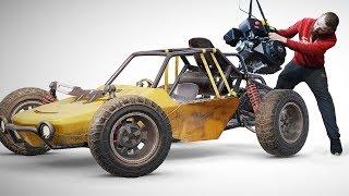 КАК СДЕЛАТЬ БАГГИ из PUBG часть 6. Установка двигателя: первый вариант + автоматическое сцепление.
