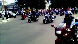 Съезд байкеров в городе Бобров