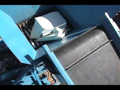 Artech MDH 250 Industrial Shredder Shredding a Fridge