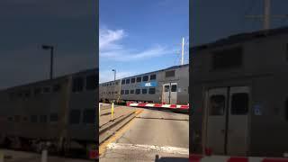 Пригородный поезд в Метрополис Чикаго